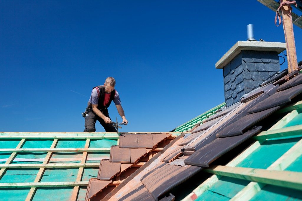 House roof repair and improvement
