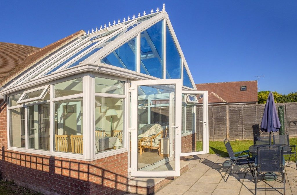 Conservatory of a luxury home