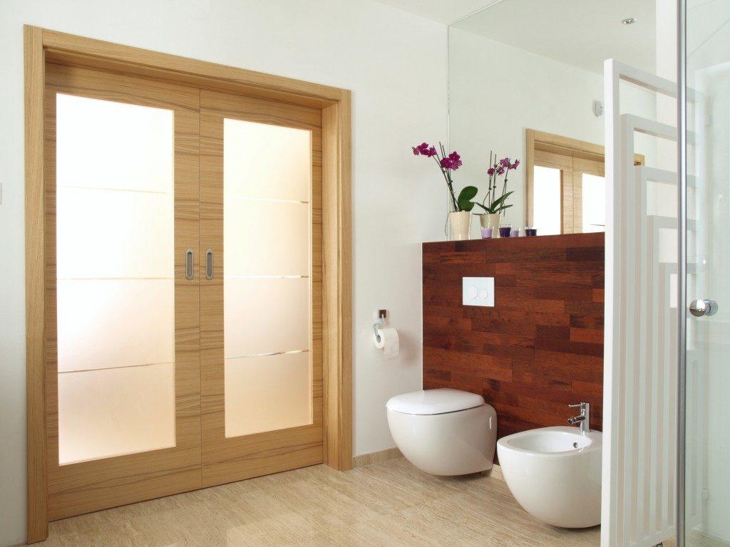 Doors of a bathroom