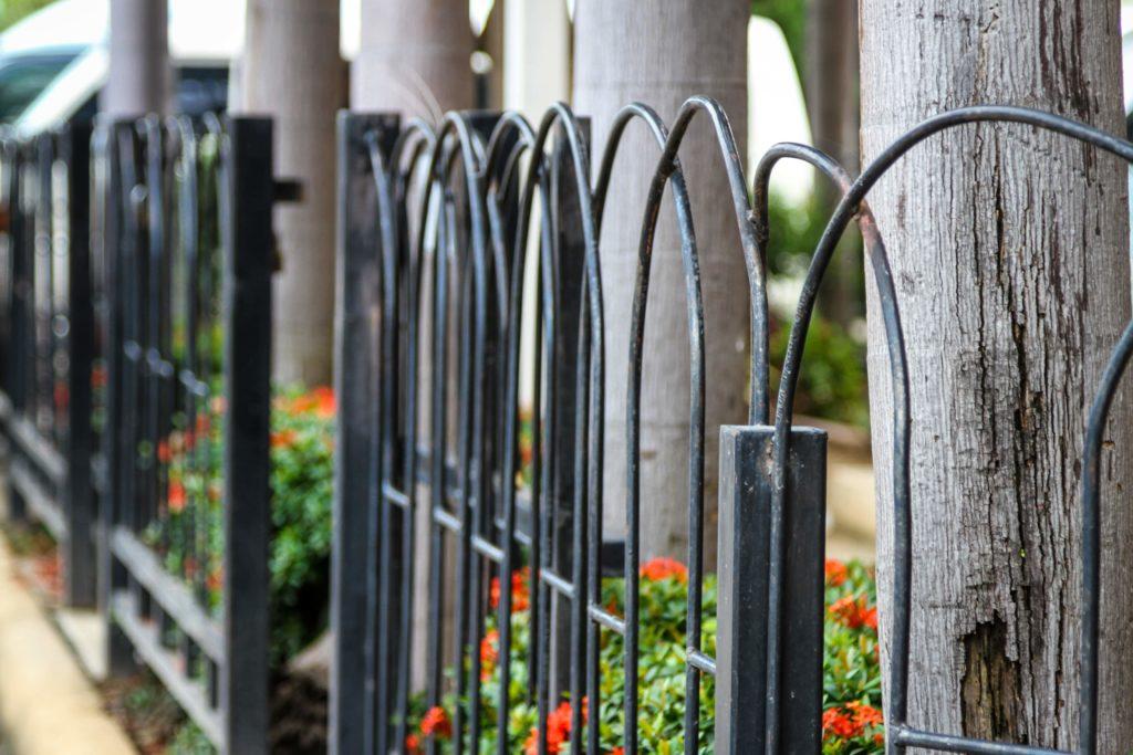 aluminum metal fence