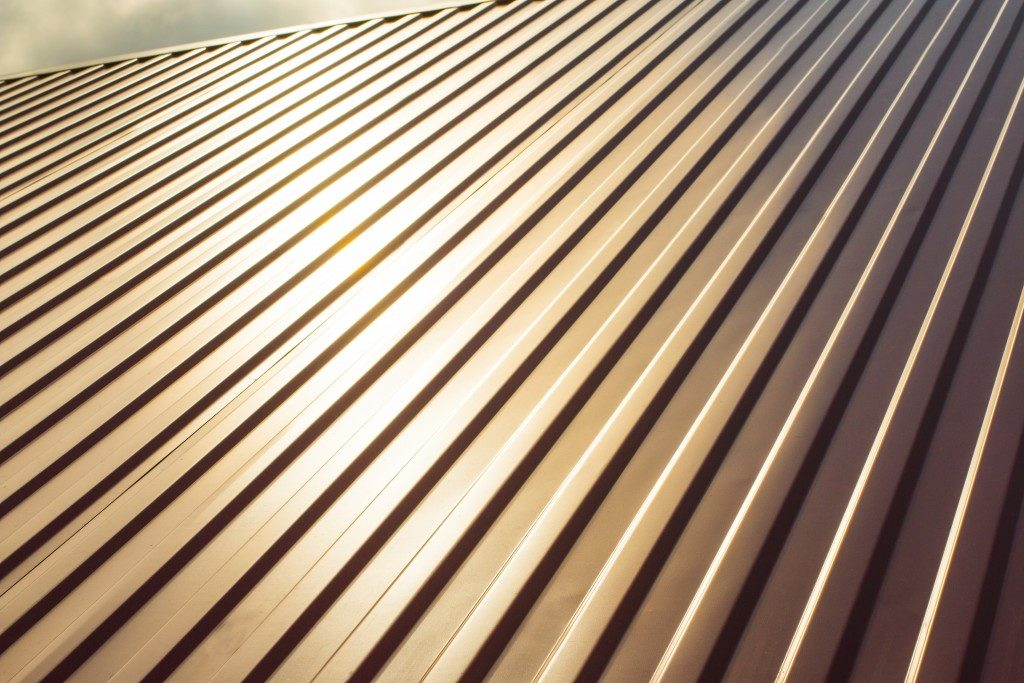 Corrugated roof up close