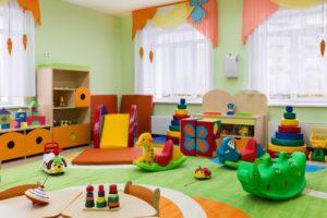 Toys on a playroom