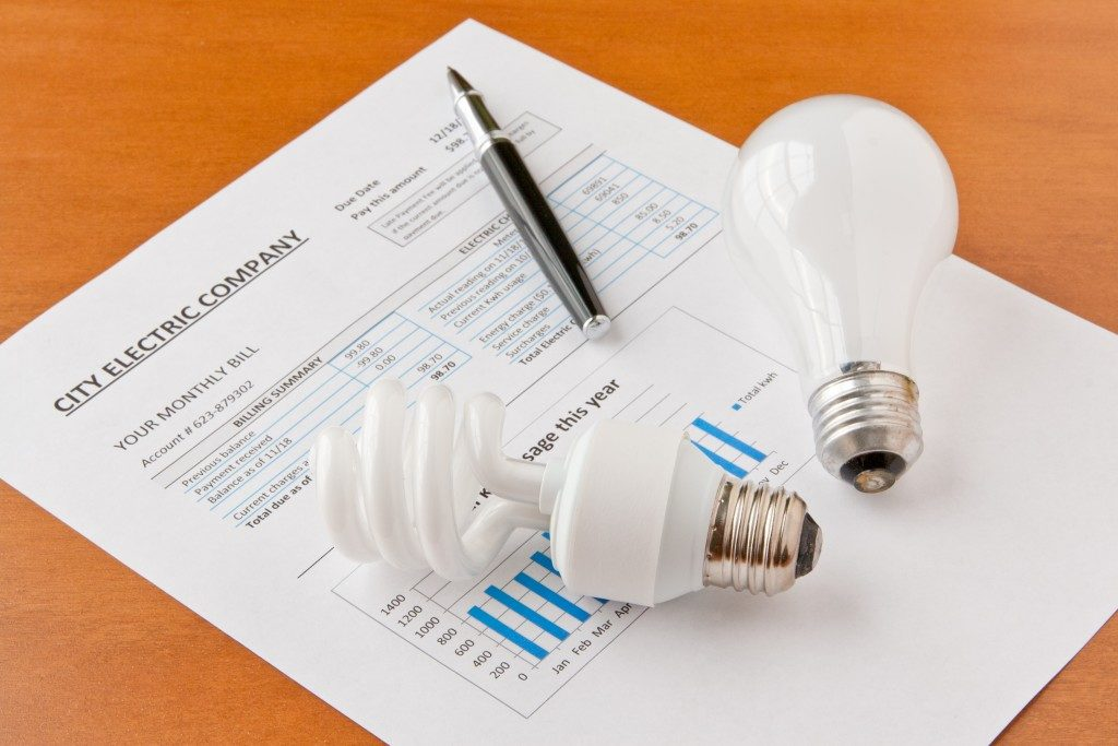 an electric bill