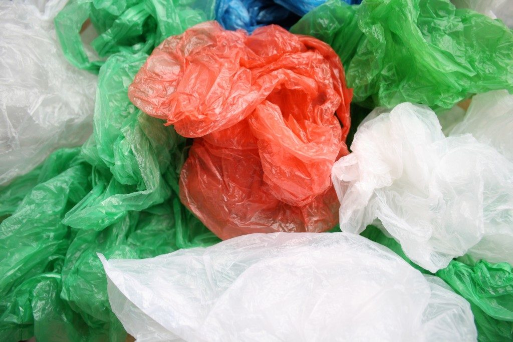disposable plastic bags.