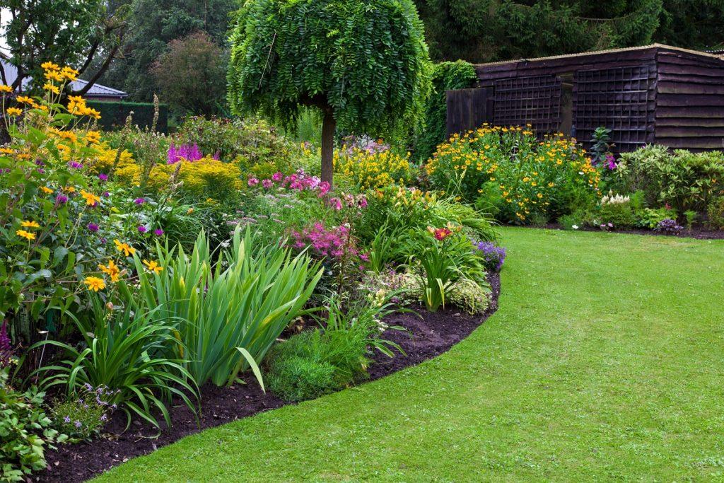 Formal garden landscape