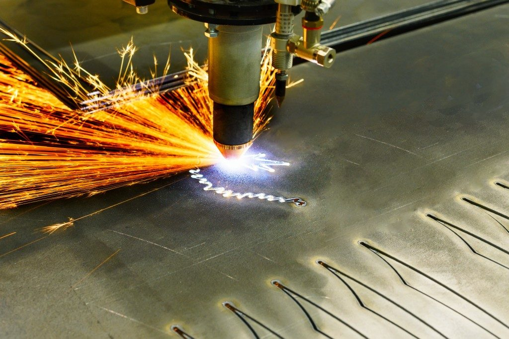 laser cutting machine process