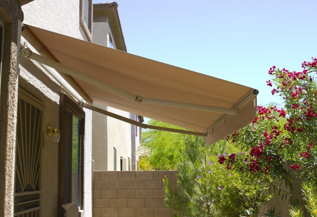 Awning above backyard door