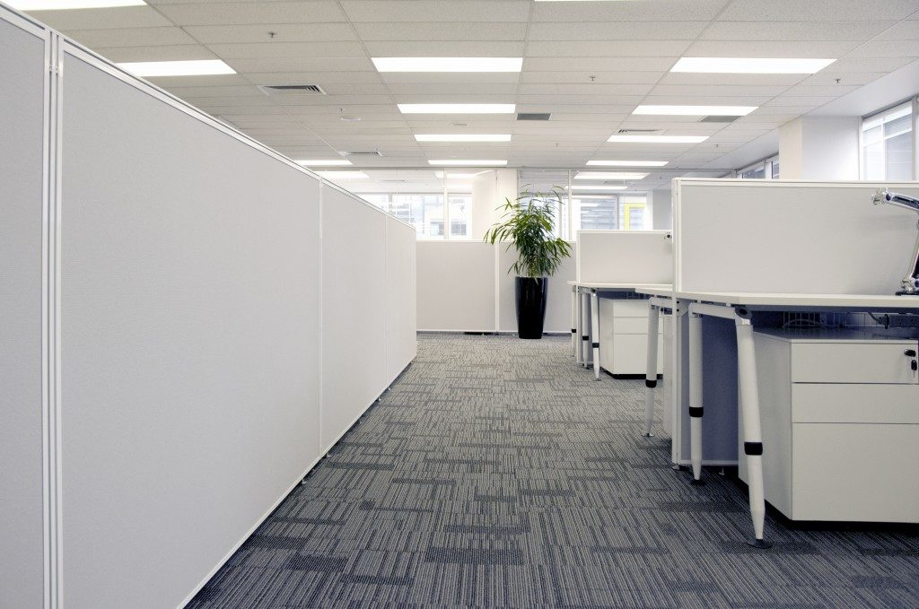 office with partitions