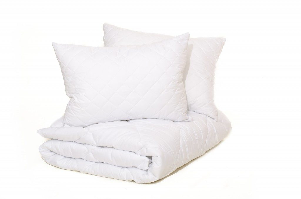 pillows and linens made up of cotton