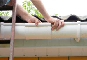 Repairing broken gutter