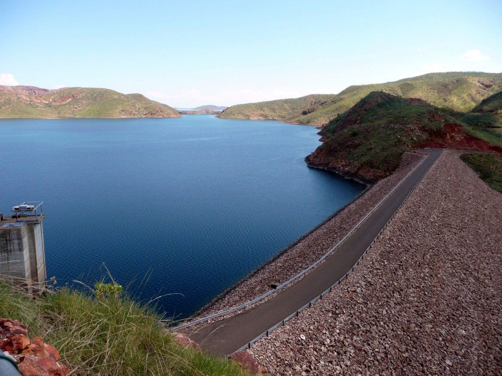 Ord River Dam on Lake Argyle in Western Australia