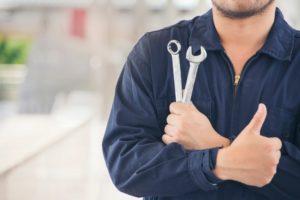 repairman with tools
