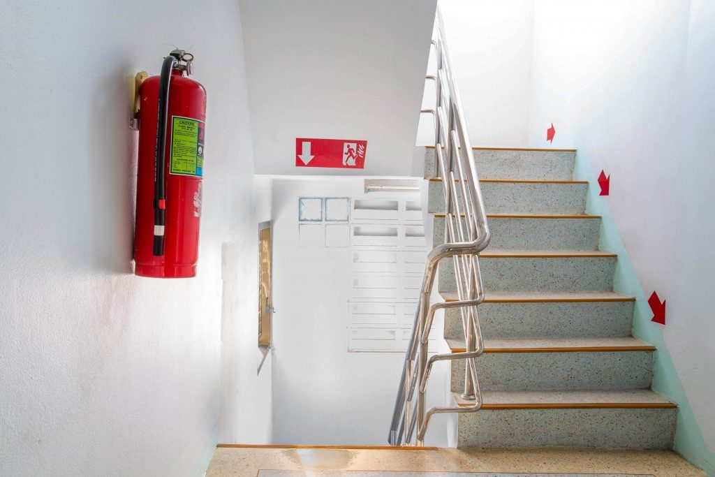 fire exit in building