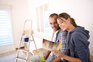 couple remodeling home