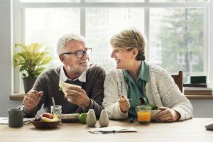 elderly in dining area