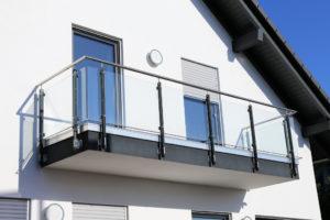 modern house with balcony